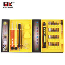 MX-DEMEL 38 in 1 Precision Multipurpose Screwdriver Set Repair Tool Kit Fix For Cell Phone IPhone For Notebook Hand Tools Sets