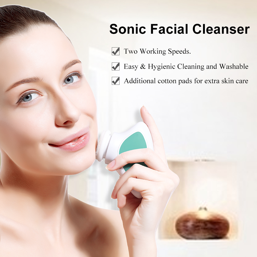 TOUCHBeauty sonic vibration facial cleansing brush,portable TB-1288 1