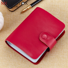 Buy 60 Slots Genuine Leather Women Men ID Card Holder Card Wallet Purse Credit Card Business Card Holder Protector Organizer W139 for $13.74 in AliExpress store