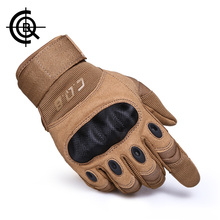 CQB Outdoor Tactical Gloves Full Finger Sports Hiking Riding Cycling Military Men's Gloves Armor Protection Shell Gloves ST0055(China)