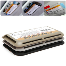 Emergency Car Sun Visor IC Card Clip Holder Storage Case CD Card Holder Pocket jun9(China)
