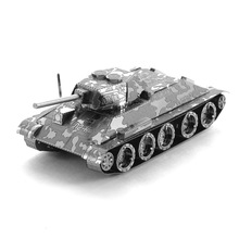Hot Sale T34 Tank Military 3D Puzzle Metal Model DIY Jigsaw Puzzle For Office/ Home Decoration