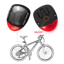 Solar Power LED Bicycle Lights Bike Rear Tail  Bike Safety Flashing Light Lamp Red New for Bicycle Frame