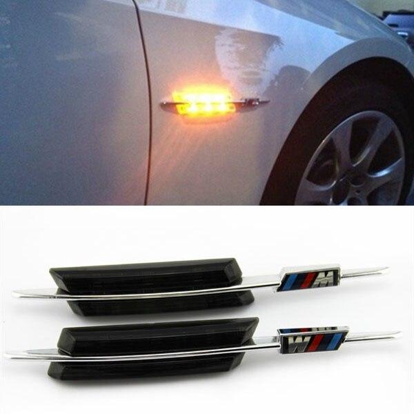LED Smoke Side Marker Lights Turn Signals For BMW M E90 E91 E92 E93 E81 E88 E60<br><br>Aliexpress