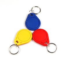 Writable EM4305 RFID 125KHz Rewrite ID tag keyfobs token for Access control hotel card(China)
