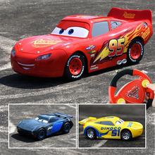 New Disney Original Mcqueen Jackson Cruz Cars Remote Control RC Pixar Cars 3 Toys for Children Boys Girls Educational Gifts(China)