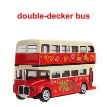 The American school bus alloy London Double Decker Bus bus toy for children car toys(China)