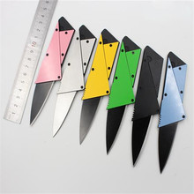 3rd Credit Card Wallet Folding Safety Metal Knife Steel Handle Sharp Blade Tactical Rescue Military Survival karambit Camping