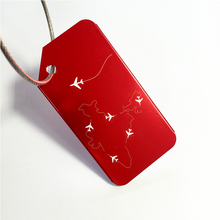 New Metal Red Luggage Bag Tag Aluminum Alloy Cartoon Air Plane Travel Tags Lock Special Cool for Pilot / Custom Design