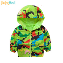 2017 New Boys Jacket Coat Girl Hooded Jackets Children Outerwear Clothing Spring Baby Clothes Camouflage Windbreaker Hot JH001