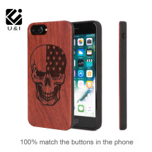 U&I Brand Luxury Rose Wooden Case For iPhone 6 6s 6plus 6s plus 7 7 Plus easy to use great feeling touching natural wooden case