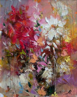 Flowertree shop cheap flowertree from china flowertree wholesale 1pcs red and white flower oil painting hand painted painting oil painting on canvas home mightylinksfo