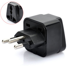 1Pc Universal United Kingdom/US/EU/Russia to Brasil Brazil Travel Power Adapter Plug(China)