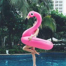 120cm Inflatable Flamingo Ride-On Water Pool Float Floating PVC Fun Toys For Swimming Floats Giant Swan Summer