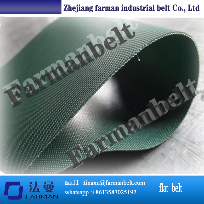 1mm pvc green conveyor belt for bag making mashine<br>