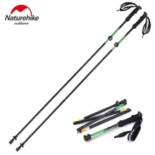 NatureHike Ultralight 7075 Aluminum Alloy Adjustable 5 Sections Telescopic Alpenstock walking Hiking Stick Trekking Pole 135cm(China)