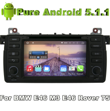 android 5.1 quad core car audio dvd automotivo for BMW 3 Series E46 BMW M3 1998-2006 and BMW E46 3er 318 320 325 car dvd gps tv(China)