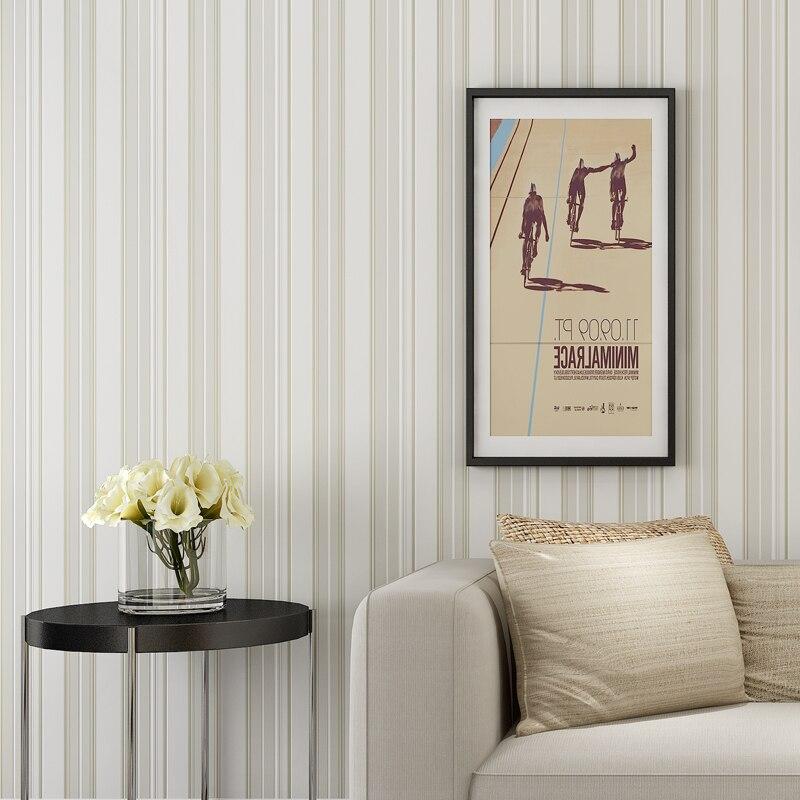Modern Strip Wallpaper for Walls 3 d Non Woven Vertical Stripes Wallpaper Blue Grey Living Room 3D Wallpaper Roll for Walls<br>