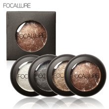 FOCALLURE 10 Colors Baked Eyeshadow Eye shadow Palette in Shimmer Metallic Eyes Makeup Cosmetics Tools 2017 Hot Sale