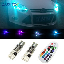 Car LED RGB T10 W5W Parking Light Clearance Lights For Ford Focus 2 3 1 Fiesta Mondeo 4 3 Transit Fusion Kuga Ranger Mustang Ka(China)