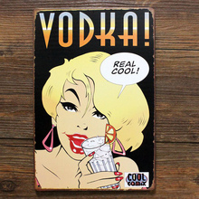 Real cool VODKA metal tin sign for bar pub wall retro decoration(China)