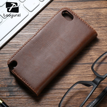Phone Cases For Apple iPod Touch 5 6 5th 6th 5G touch5 touch6 Retro PU Leather Flip Covers Housing Card Holster Cellphone Skin