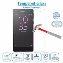 0.3mm Tempered Glass For Sony Xperia E5  Screen Protector Explosion-Proof Film for Xperia E5 + Clean Kits