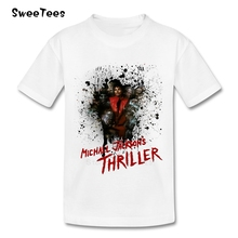 Michael Jackson Thriller children's T Shirt Cotton O Neck Tshirt Teeshirt Boy Girl 2017 Rock N Roll Star Tops T-shirt For Baby