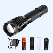 YAGE YG-339C Aluminum 2000LM Waterproof Zoomable CREE T6 LED Flashlight Torch Light with 18650 Battery Lanterns AAA LED Flash(China)