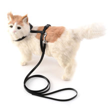 Convenient Pet Harness Pet Cat Nylon material adjustable collar Kitten Belt Safety Rope Harness Puppy Cat Vest Jean Leash Collar(China)