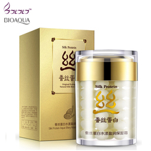 collagen protein moisturizer face cream anti wrinkle age anti acne whitening cream bioaqua silk skin care ageless products(China)