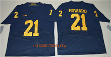 Nike 2017  Wolverines Desmond Howard 21 College Football Limited  Boxing Jersey - Yellow Size S,M,L,XL,2XL,3XL
