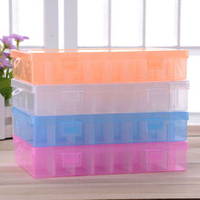 Practical Adjustable Plastic 24 Compartment Storage Box Case Bead Rings Jewelry Display Organizer Container