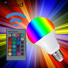 Z35 E27 LED 16 Color Changing RGB Magic Light Bulb Lamp 3W 5W 10W 85-265V 110V 120V 220V RGB Led Light Spotlight + IR Remote Con