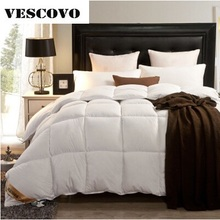 2017 warm winter quilt goose down comforter feather duvet  European Edredon funda 100% goose down comforter