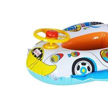 New Safe Cartoon Baby Swimming Seat Ring Inflatable Car Style Pool Float Boat Children Kids Swim Ring(China)