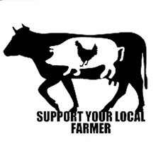15CM*11.5CM Your Local Farmer Decal Sticker Car Window Cow Pig Chicken Cute Car Stikers Black/Sliver C8-0176(China)