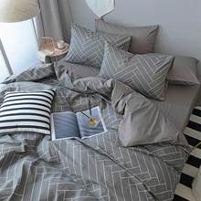 Geometric single double bedding set teen kid boy man,cotton twin full queen king home textiles bed sheet pillow case duvet cover