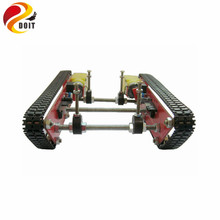 DOIT RC Tank Car Chassis Intelligent Robot Integrated Speed Motor Driver Module Patent Caterpillar Vehicles Crawler(China)