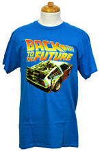 Назад к футболка Future Delorean Time Machine Graphic Tee Бирюзовый NWT(China)