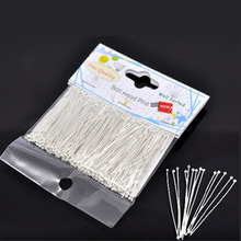 DoreenBeads Retail 1 pack(300PCs)Well Sorted Silver color Ball Head Pins 45x0.7mm(21 gauge)(China)