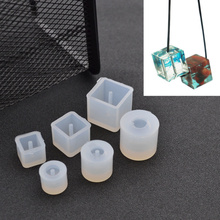 She Love DIY Silicone Mold Transparent Necklace Beads Pendant with Hanging Hole Making Fashion Jewelry(China)
