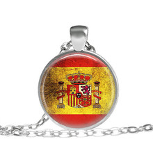 Spanish Flag Necklace Spain Flag Jewelry Spanish football jewelry