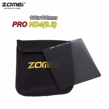 Zomei 100mm ND4 Square Filter Pro HD Optical Glass ND0.6 100x100mm Neutral Density ND Filter For Cokin Z Lee Hitech 100mm Holder(China)
