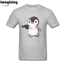 XL Cubic Penguin Power T Shirts Slogan For Boyfriend Cotton(China)