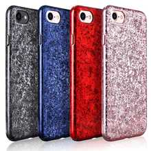 X-Level iCE Crystal Case for iPhone 6 6S 7 8 Plus Cover Plating Ice Crack Phone Cases for iPhone 8 7 7Plus 6 6S Back Cover