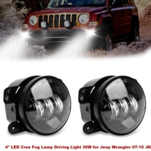 "Car accessories 4"" Inch 60W Led Fog Lights for Jeep Wrangler Off Road Fog Lamps For Chrysler PT Cruiser Dodge White Lamp"
