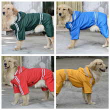High quality Large Dog Raincoat Clothes Pet Dog Glisten Bar Rain Coat Products Four Legs Big Dog Waterproof Poncho 3XL-7XL PD075