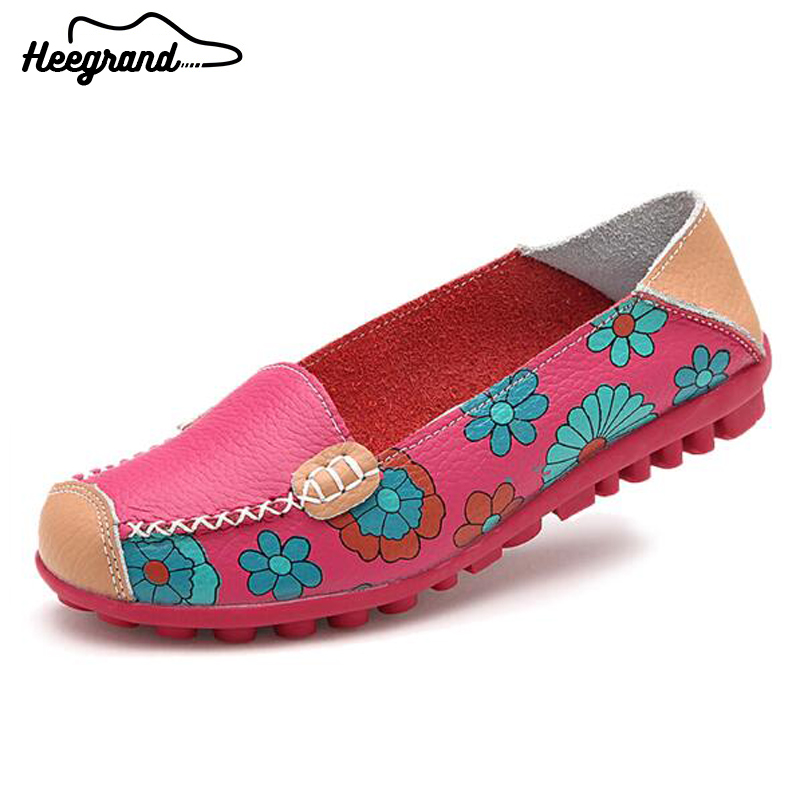 Women Flats Shoes Spring Summer Autumn PU Slip-On Basic Casual Floral Printing Shoes For Women XWD1260<br><br>Aliexpress
