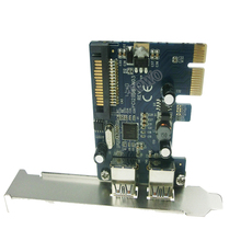 2-Port SuperSpeed USB 3.0 PCI-E PCIE PCI Express Connector Adapter usb3.0 Extender Add On Card Low Profile(China)